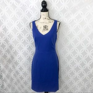 Cynthia Rowley Blue Sheath Sleeveless Dress